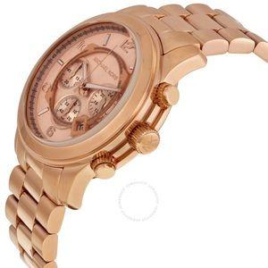 NEW-Michale Kors Runway Gold tone watch